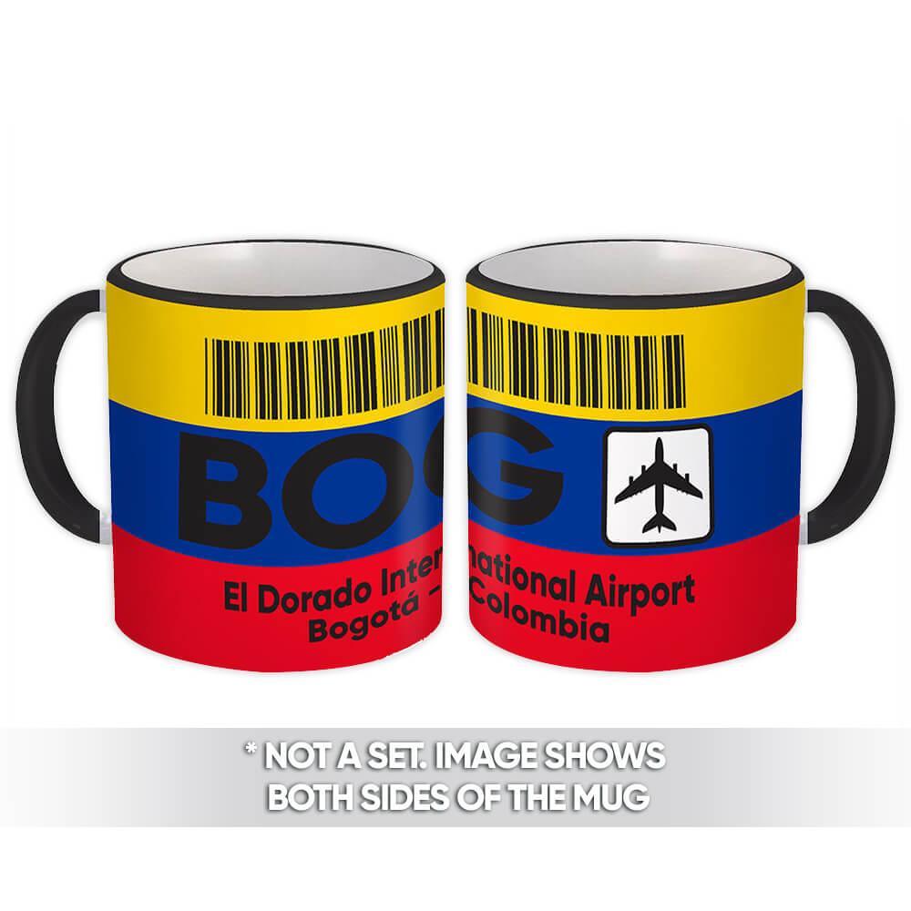 Colombia El Dorado Airport Bogotá BOG : Gift Mug Travel Airline Pilot AIRPORT