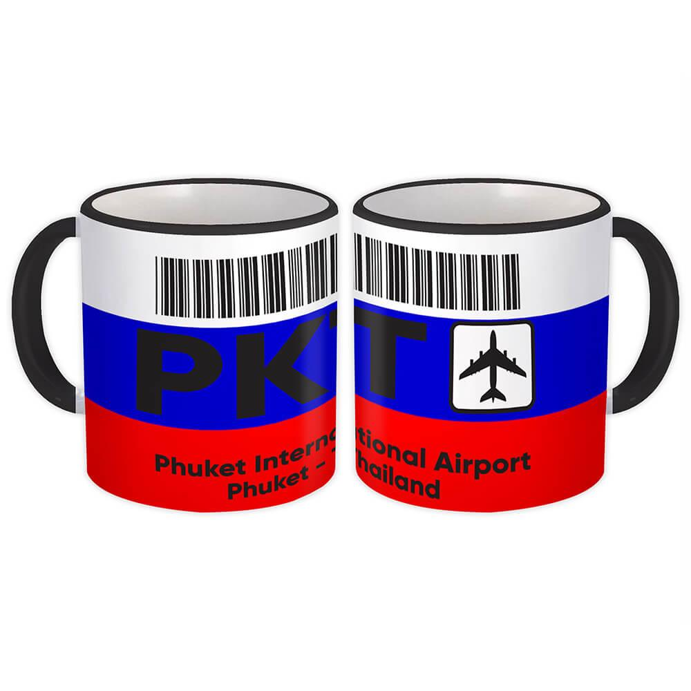 Phuket International Airport PKT : Gift Mug Travel Airline Crew Pilot AIRPORT