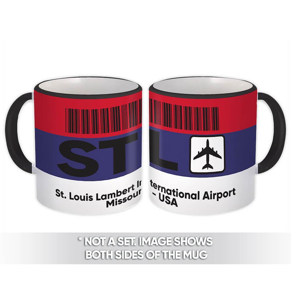 USA St. Louis Lambert Airport Missouri STL : Gift Mug Travel Airline Pilot