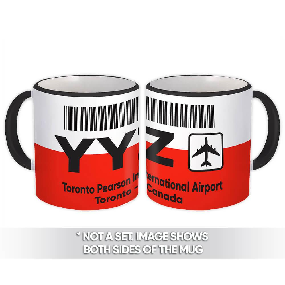 Canada Toronto Pearson Airport YYZ : Gift Mug Travel Airline Pilot AIRPORT