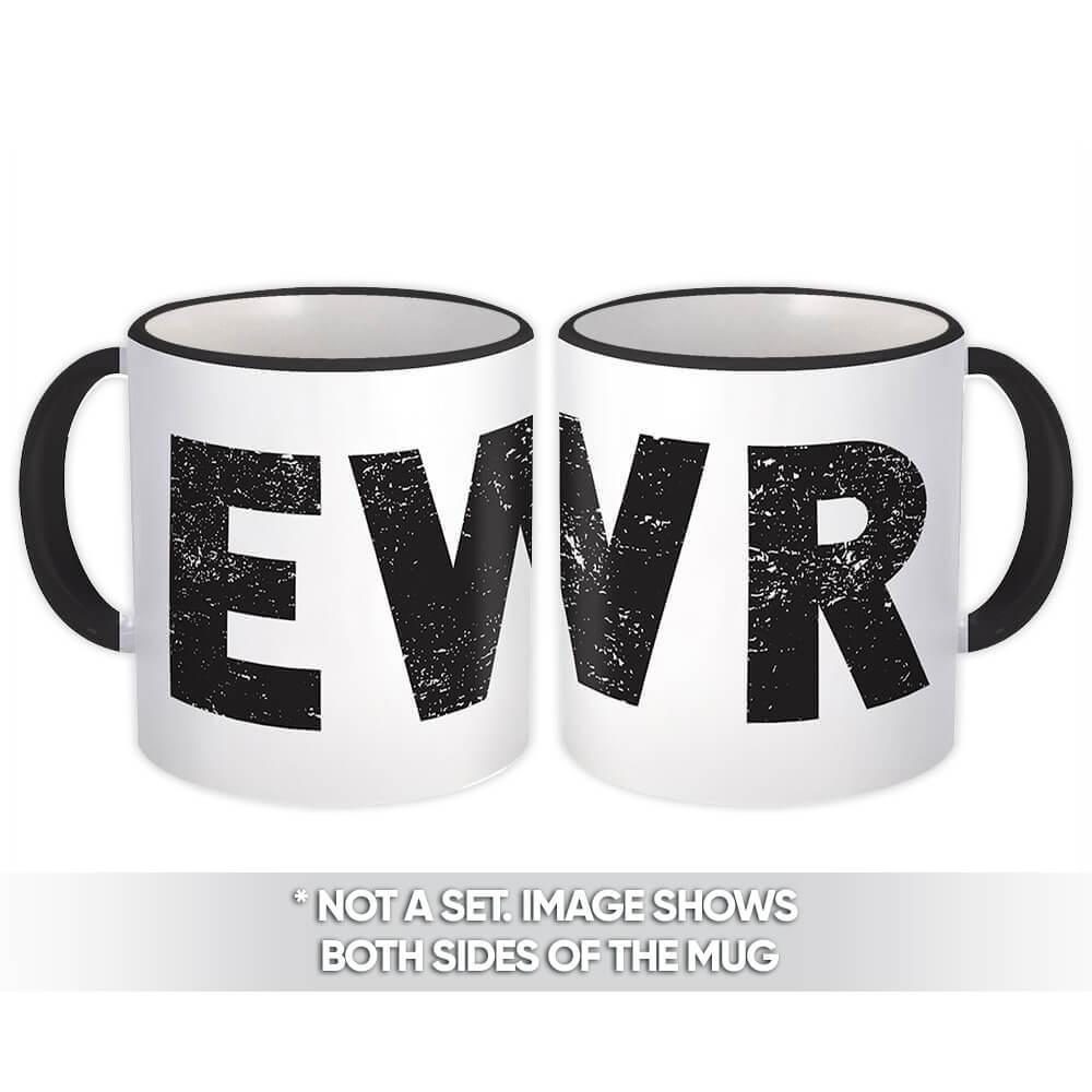 USA Newark Airport New Jersey EWR : Gift Mug Airline Travel Pilot AIRPORT