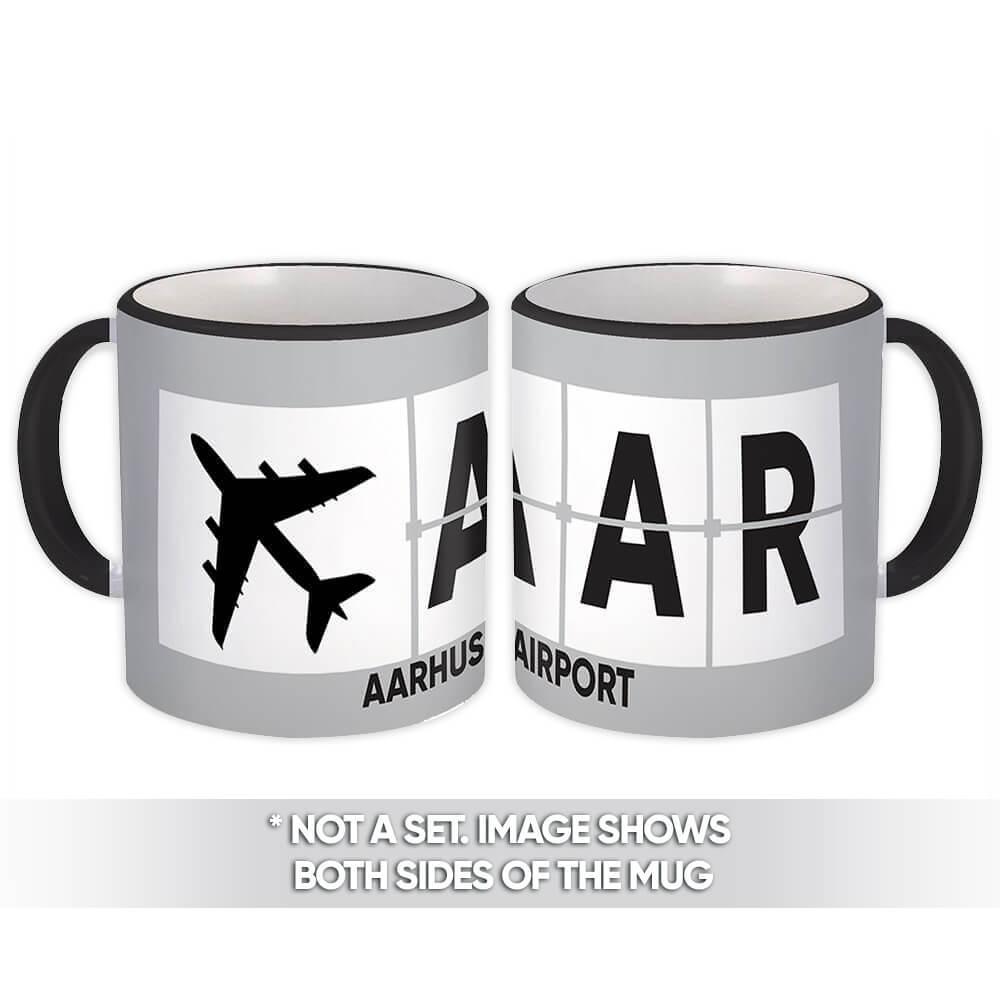 Denmark Aarhus Airport Tirstrup AAR : Gift Mug Airline Travel Crew AIRPORT