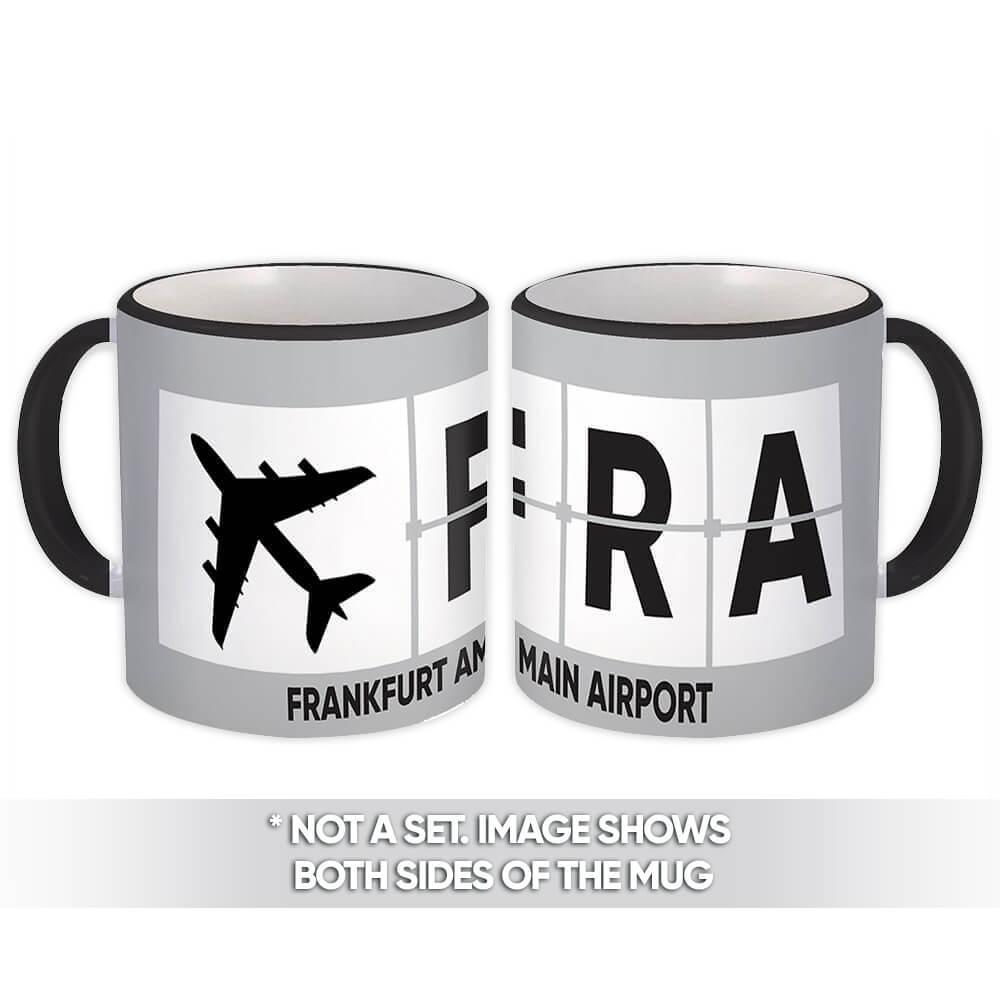 Germany Frankfurt am Main Airport FRA : Gift Mug Airline Travel Pilot AIRPORT
