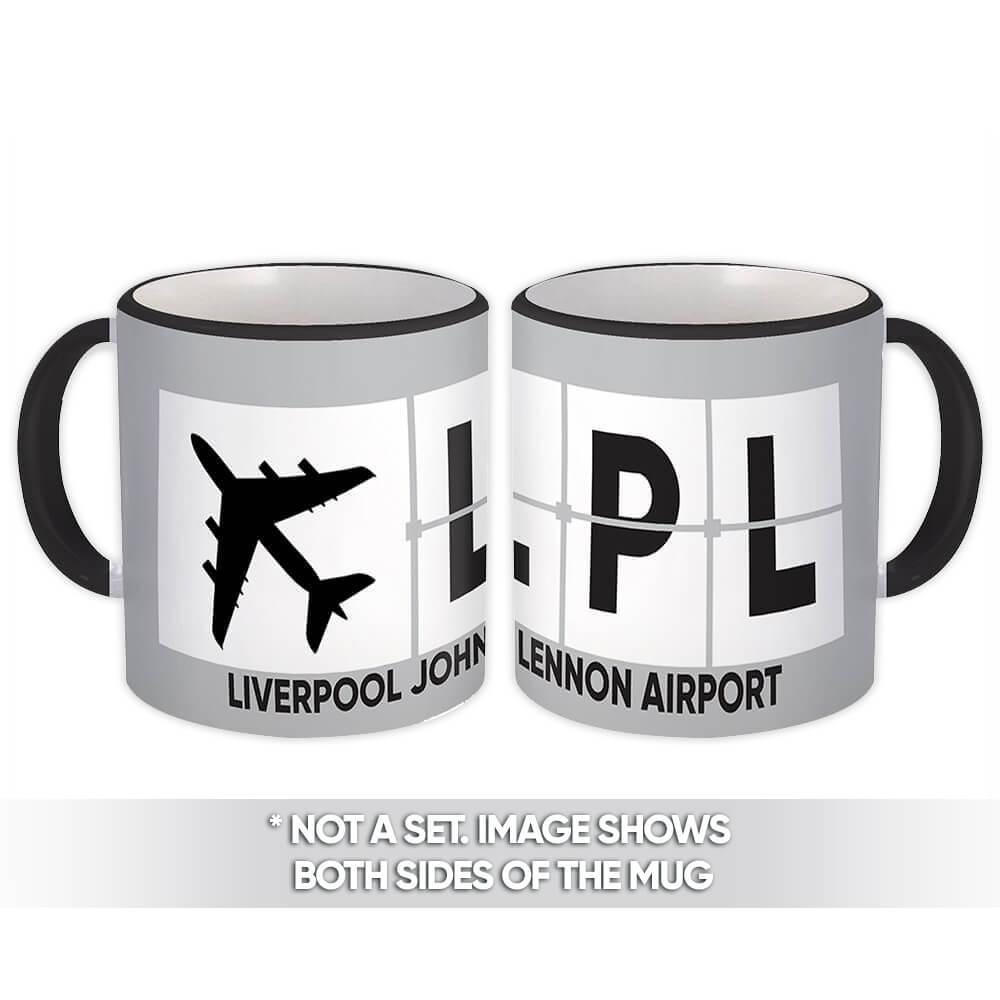 United Kingdom Liverpool John Lennon Airport LPL : Gift Mug Airline Travel Pilot
