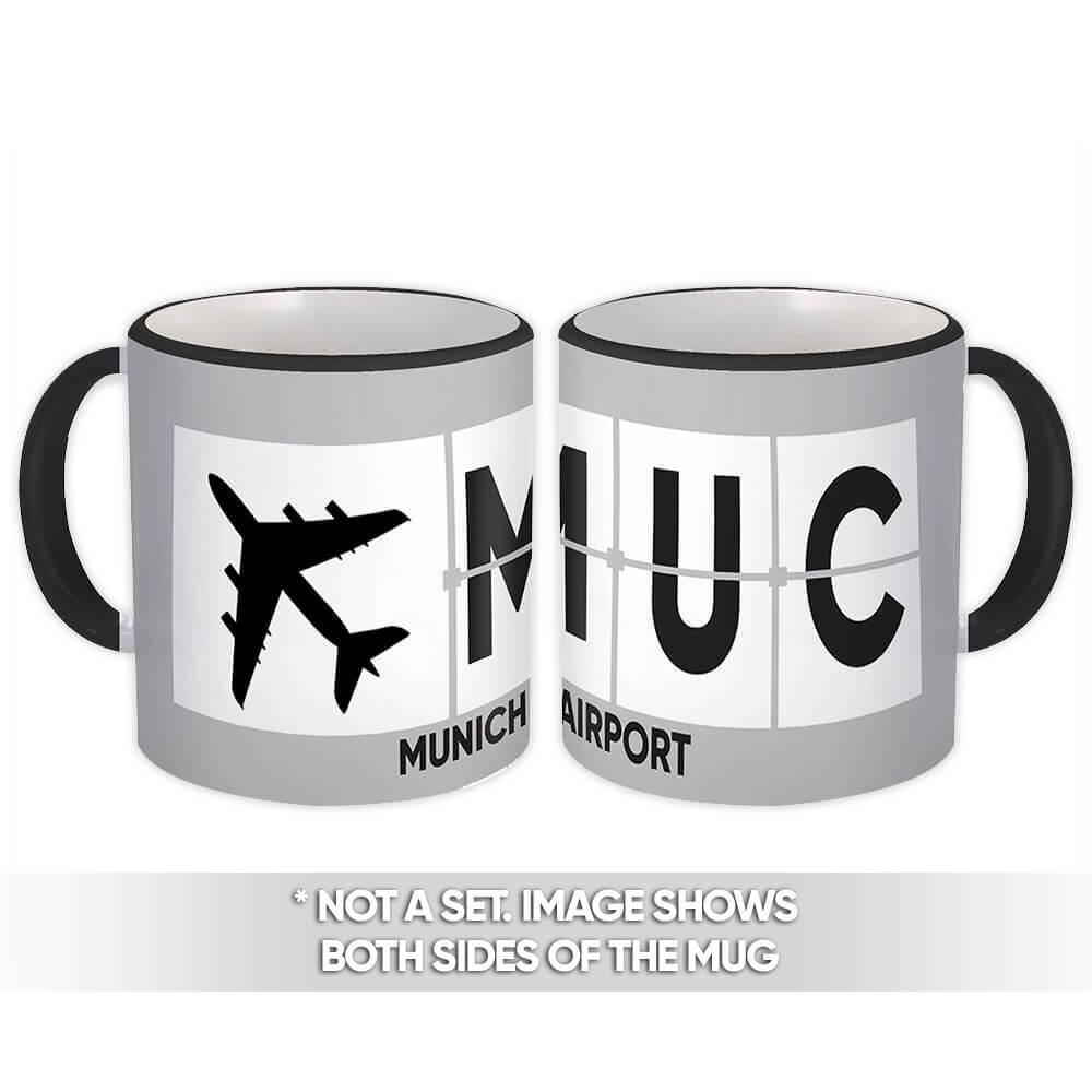Germany Munich Airport Munich MUC : Gift Mug Airline Travel Pilot AIRPORT