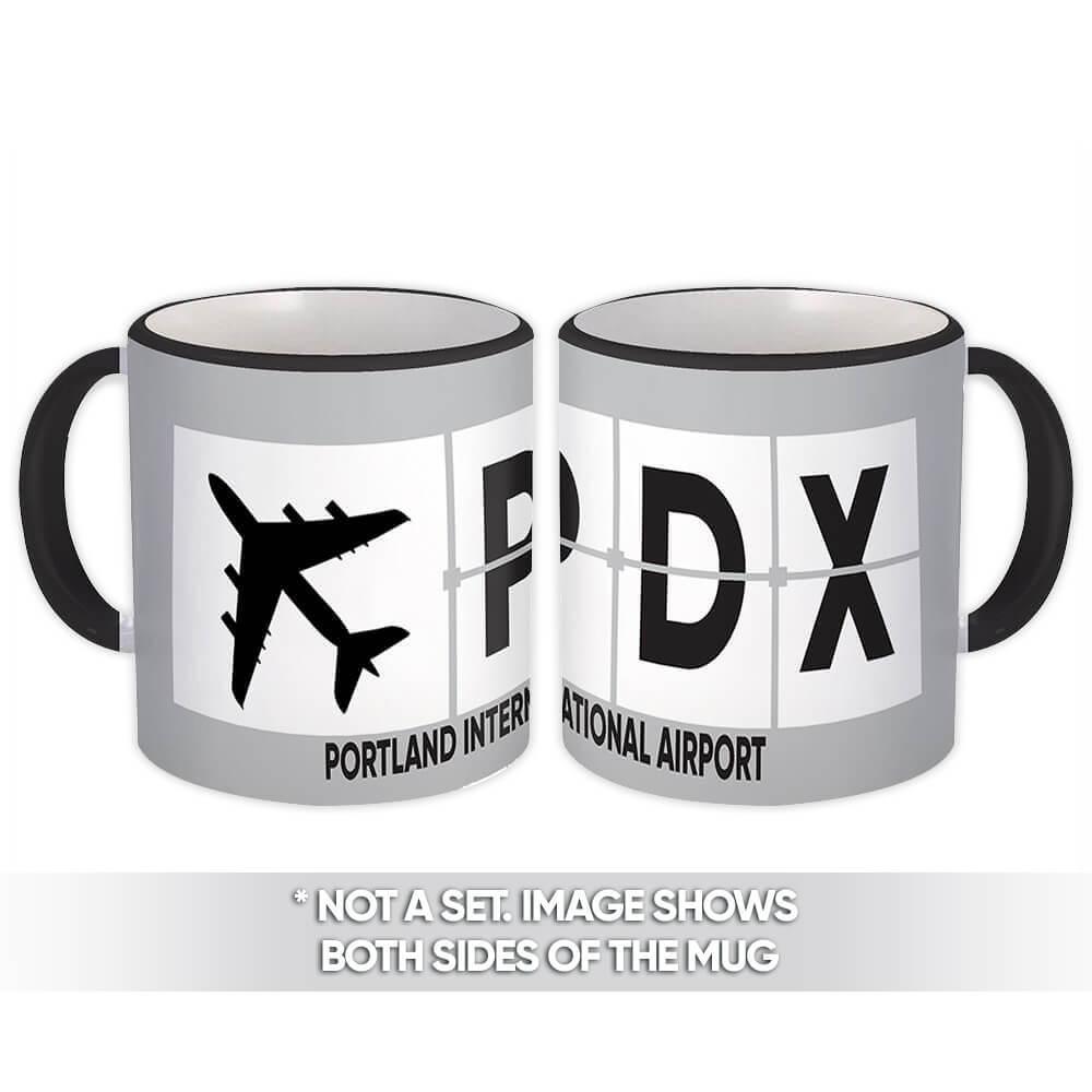 USA Portland Airport Oregon PDX : Gift Mug Airline Travel Pilot AIRPORT