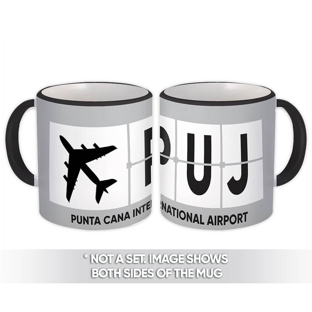 Dominican Republic Punta Cana Airport PUJ : Gift Mug Airline Travel Pilot