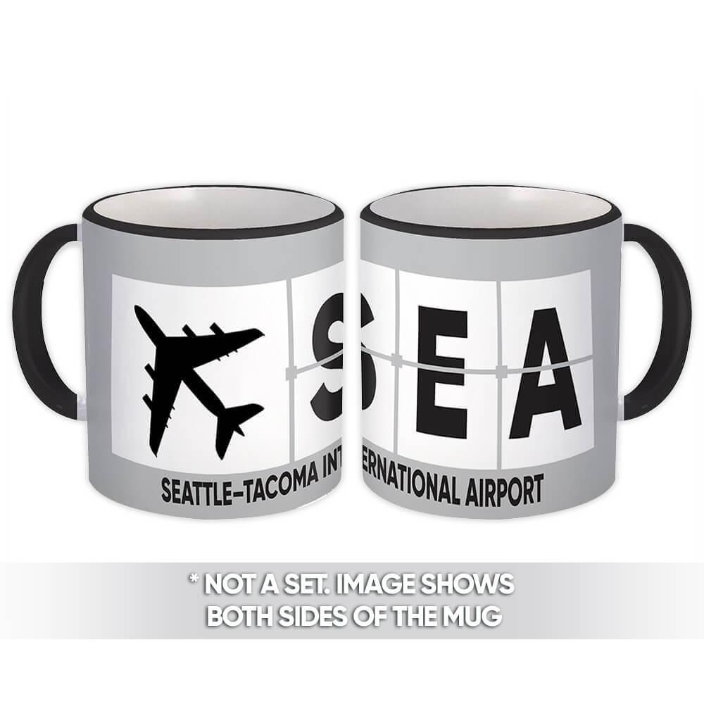 USA Seattle–Tacoma Airport Washington SEA : Gift Mug Airline Travel Pilot
