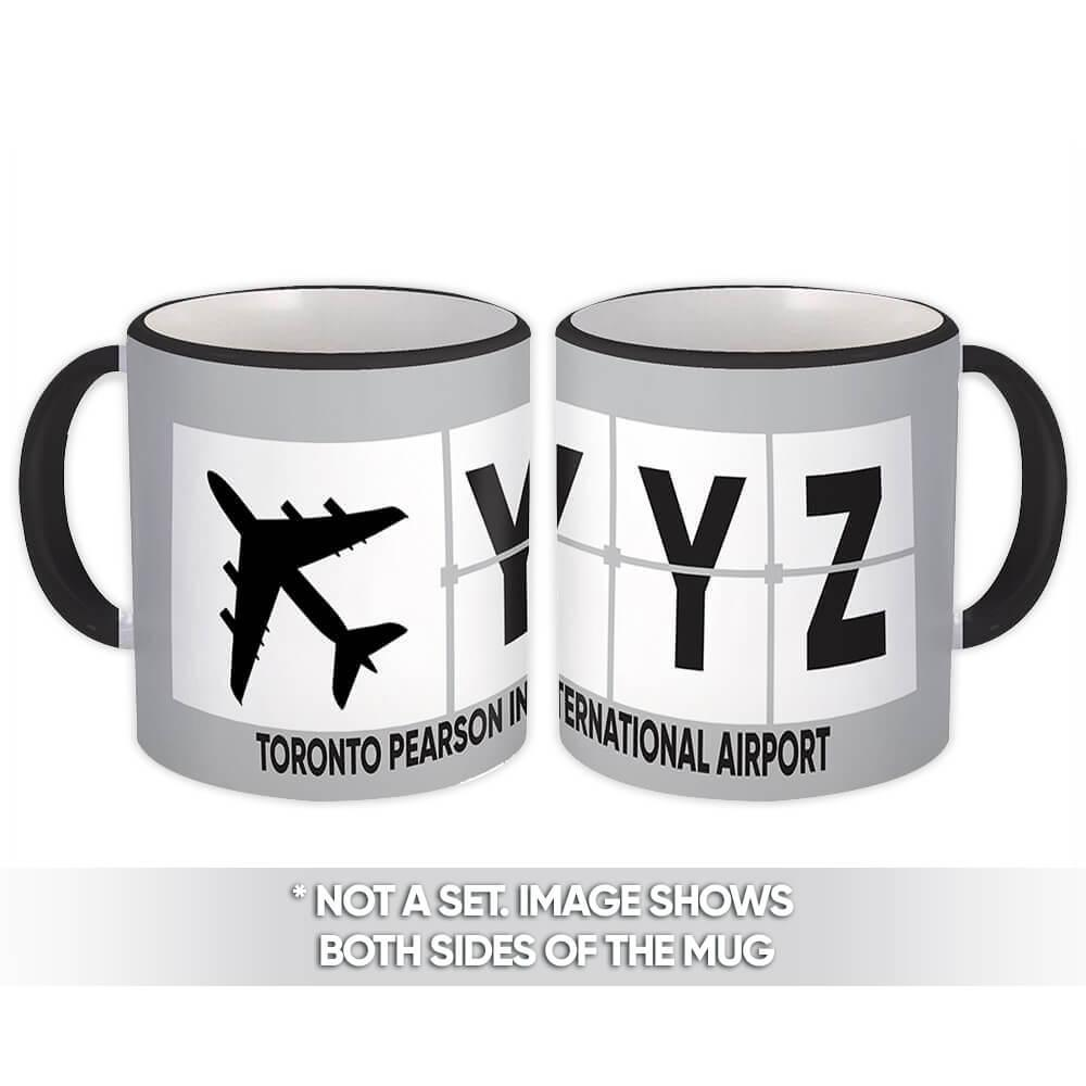 Canada Toronto Pearson Airport YYZ : Gift Mug Airline Travel Pilot AIRPORT