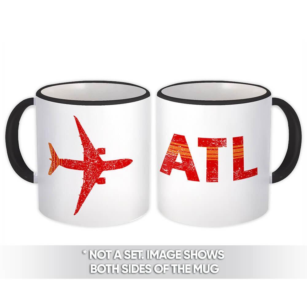 USA Hartsfield–Jackson Atlanta Airport ATL : Gift Mug Travel Airline AIRPORT