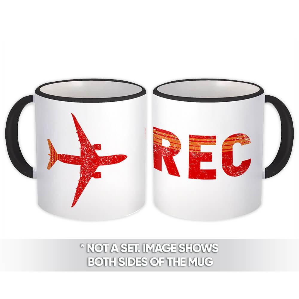 Brazil Recife Airport Recife REC Brasil : Gift Mug Travel Airline Pilot AIRPORT