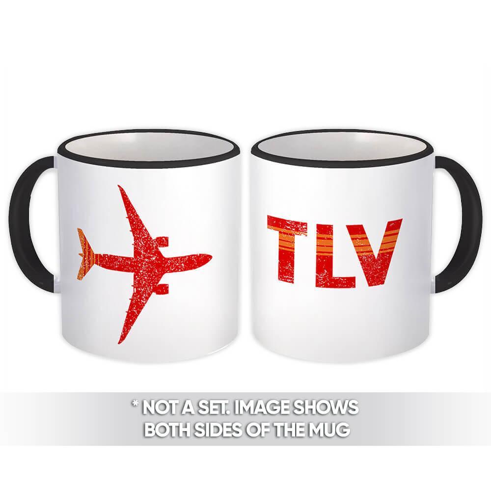 Israel Ben Gurion Airport Tel Aviv TLV : Gift Mug Travel Airline Pilot AIRPORT