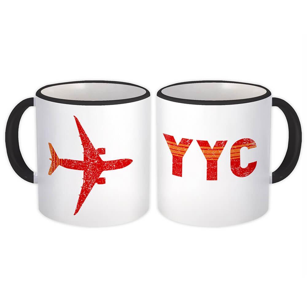Calgary International Airport YYC : Gift Mug Airline Travel Crew AIRPORT