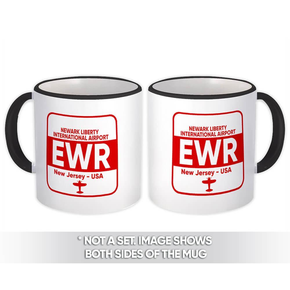 USA Newark Airport New Jersey EWR : Gift Mug Travel Airline Pilot AIRPORT