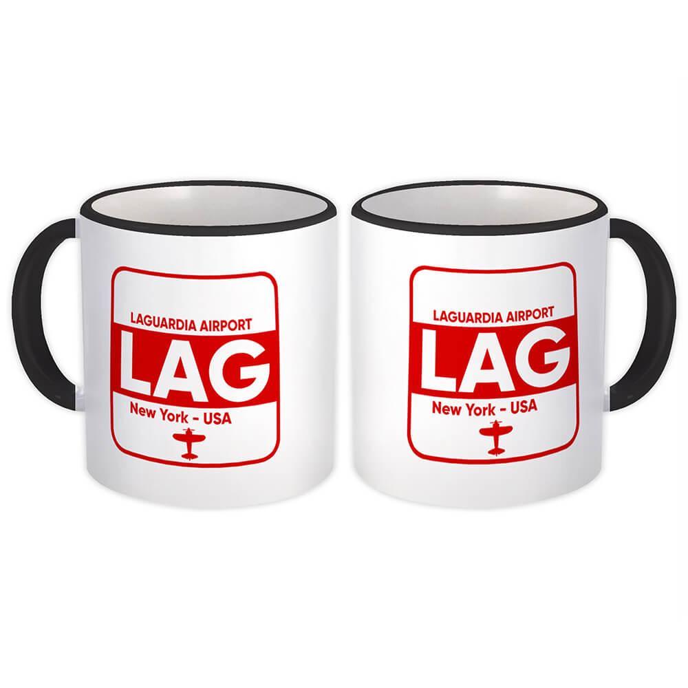 Laguardia Airport LAG : Gift Mug Airline Travel Crew AIRPORT USA New York