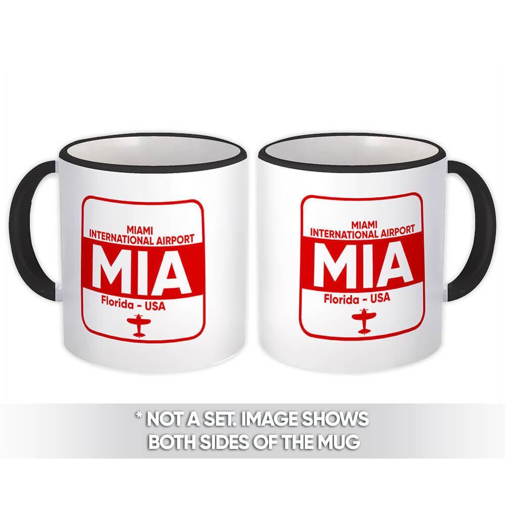 USA Miami Airport Florida MIA : Gift Mug Airline Travel Crew Code Pilot AIRPORT