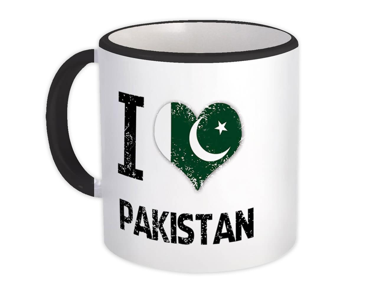 I Love Pakistan : Gift Mug Heart Flag Country Crest Pakistani Expat