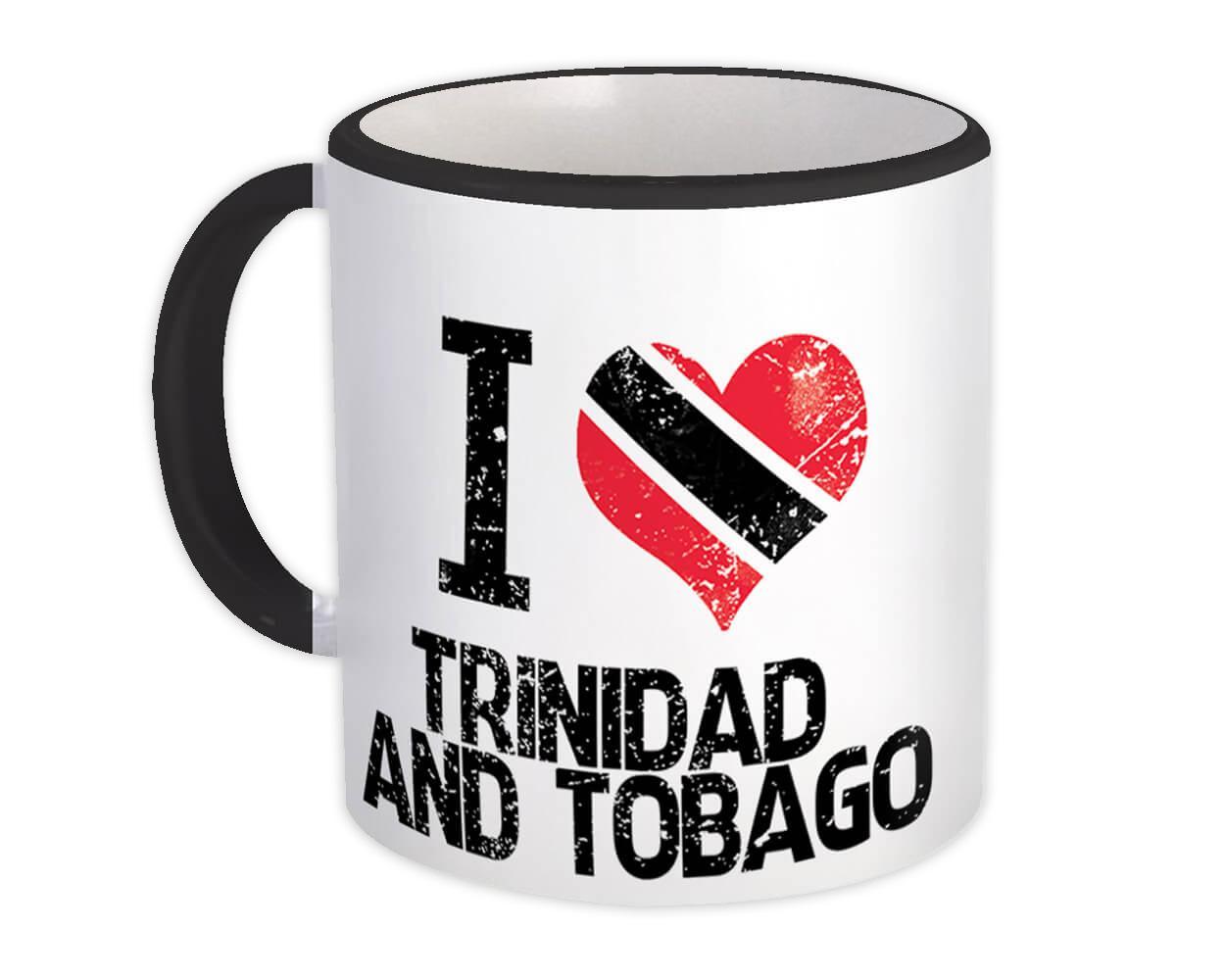 I Love Trinidad and Tobago : Gift Mug Heart Flag Country Crest Trinidadian