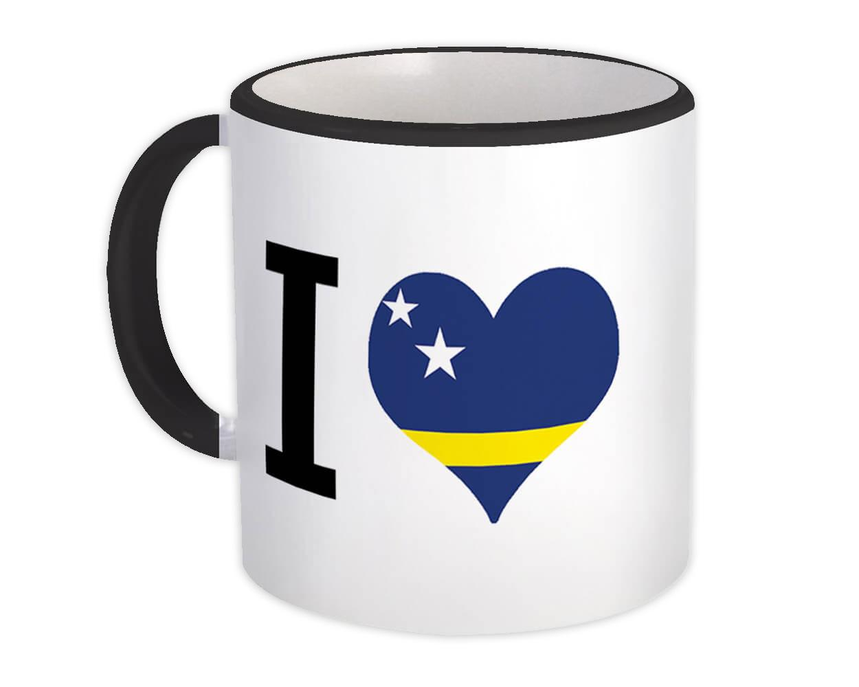 I Love Curaçao : Gift Mug Flag Heart Crest Country Expat