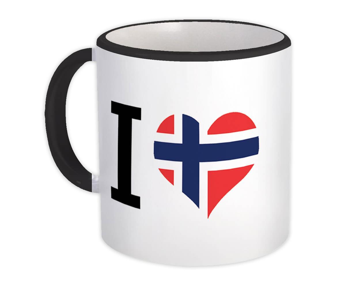 I Love Norway : Gift Mug Flag Heart Crest Country Norwegian Expat