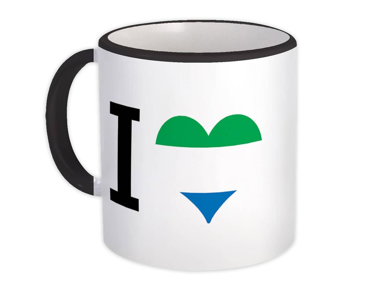 I Love Sierra Leone : Gift Mug Flag Heart Crest Country Sierra Leonean Expat