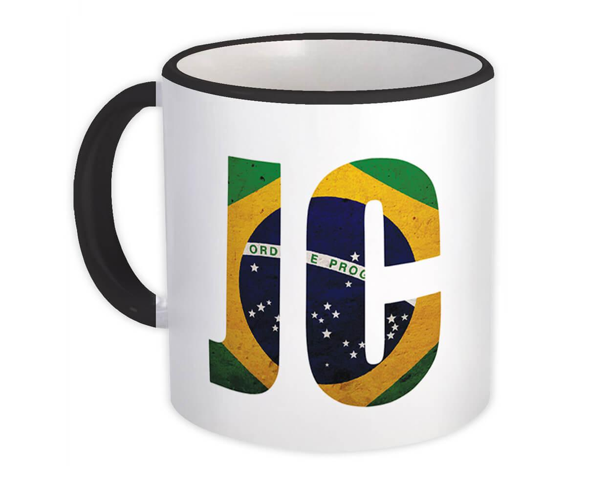 JC Brazil Flag : Gift Mug Jesus Christian Catholic Faith Brasil
