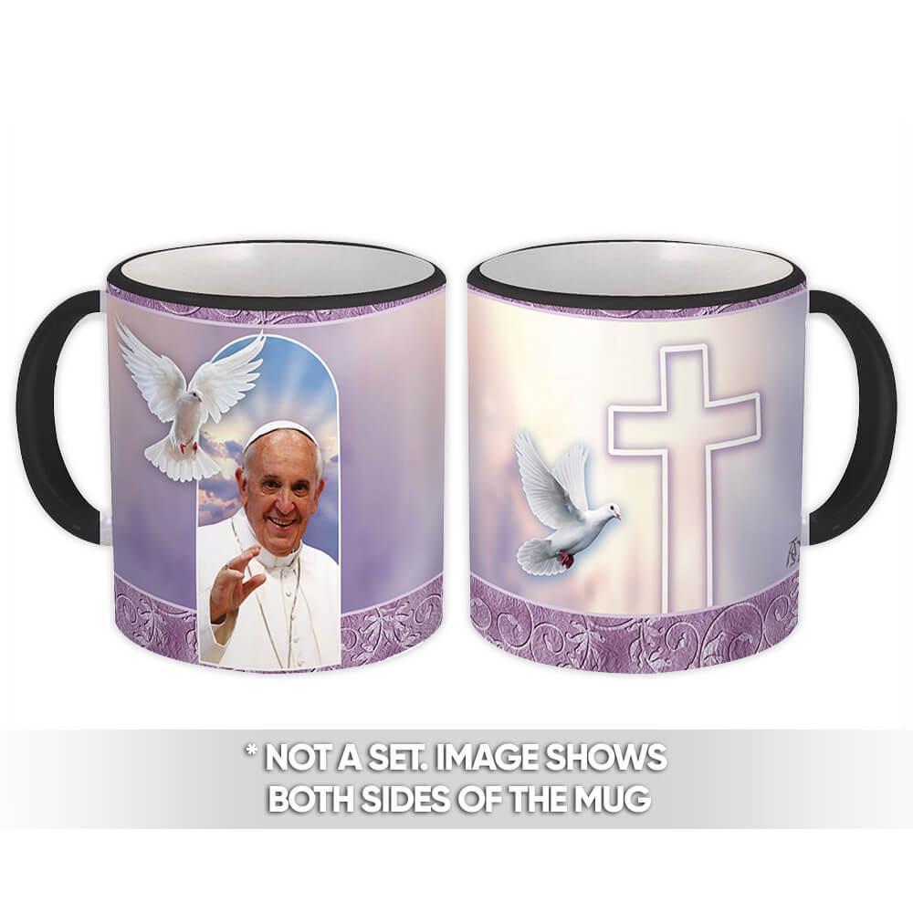 Pope Francis : Gift Mug Catholic Religious Saint Vatican