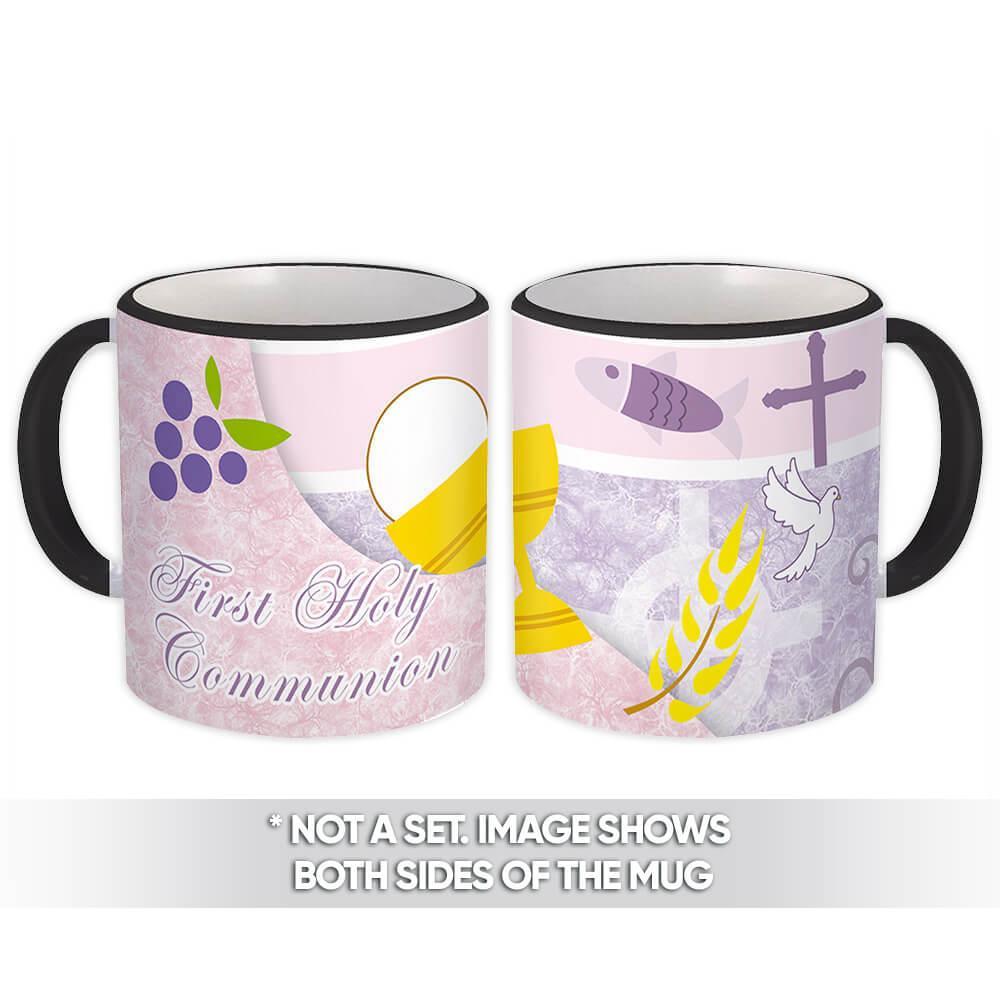 First Holy Communion : Gift Mug Catholic Religious Saint