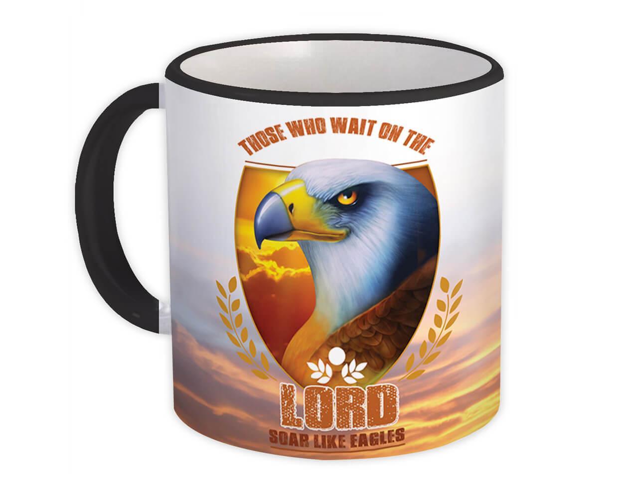 Those Who Wait On The Lord : Gift Mug Christian Eagle Jesus God Isaiah