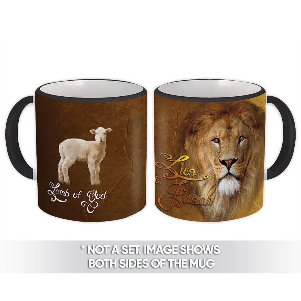 Lion of Judah : Gift Mug Christian Religious Jesus God Faith