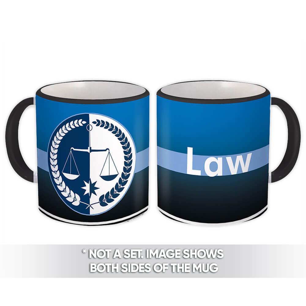 Law : Gift Mug Profession Job Work Coworker Birthday Occupation Lawyer