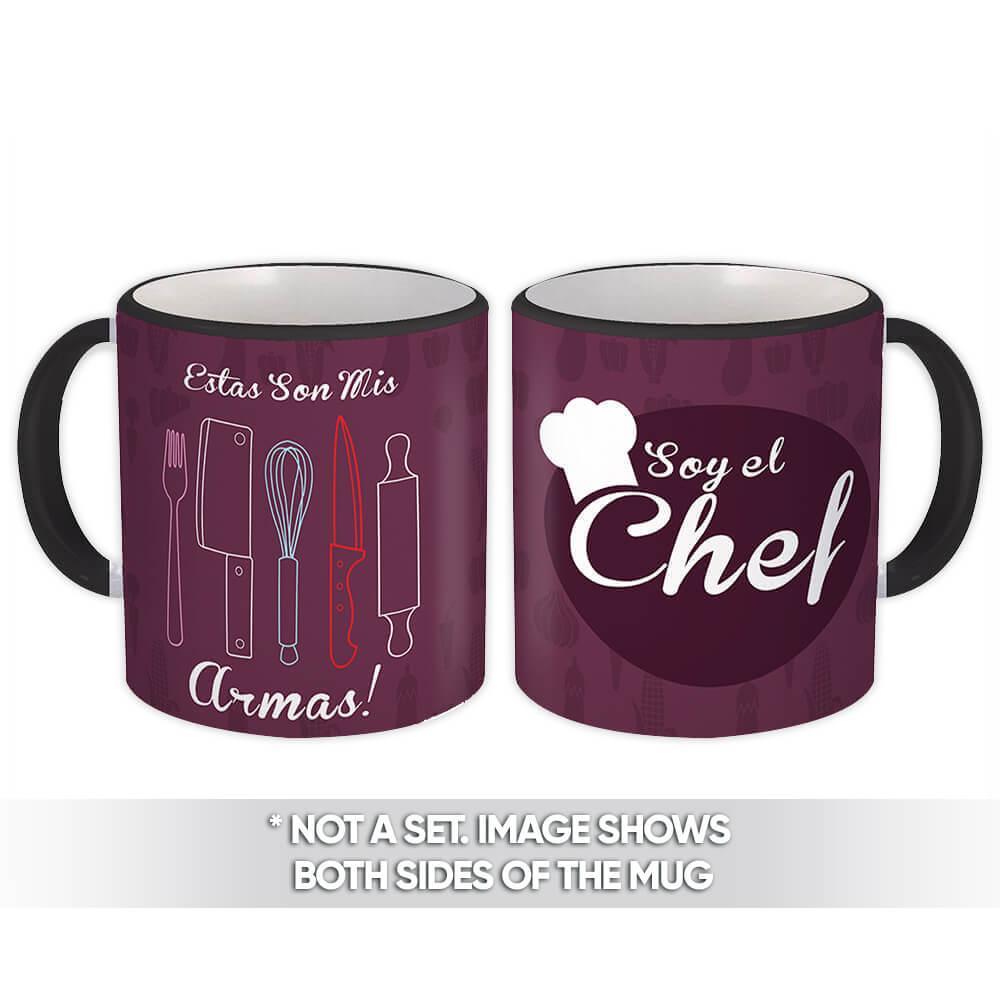 Soy El Chef : Gift Mug Profession Job Work Coworker Birthday Occupation Graduation