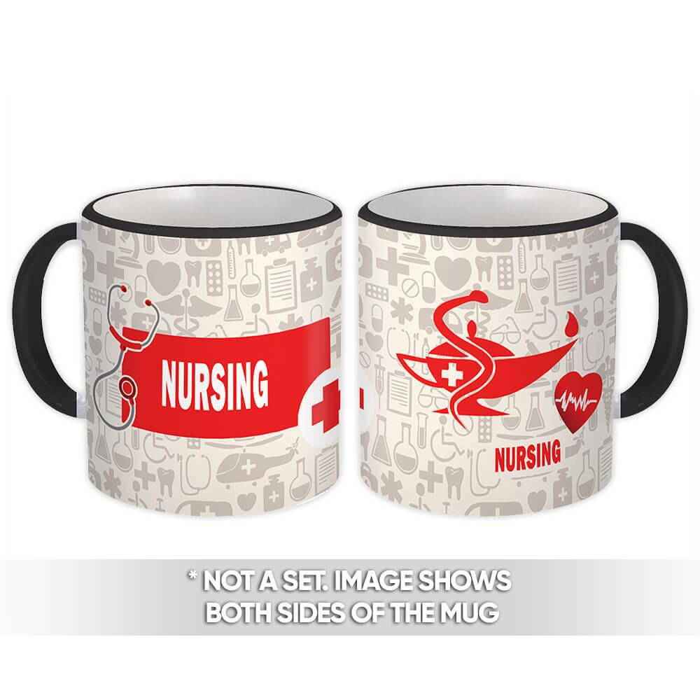 Nursing : Gift Mug Profession Job Work Coworker Birthday Nurse Graduation