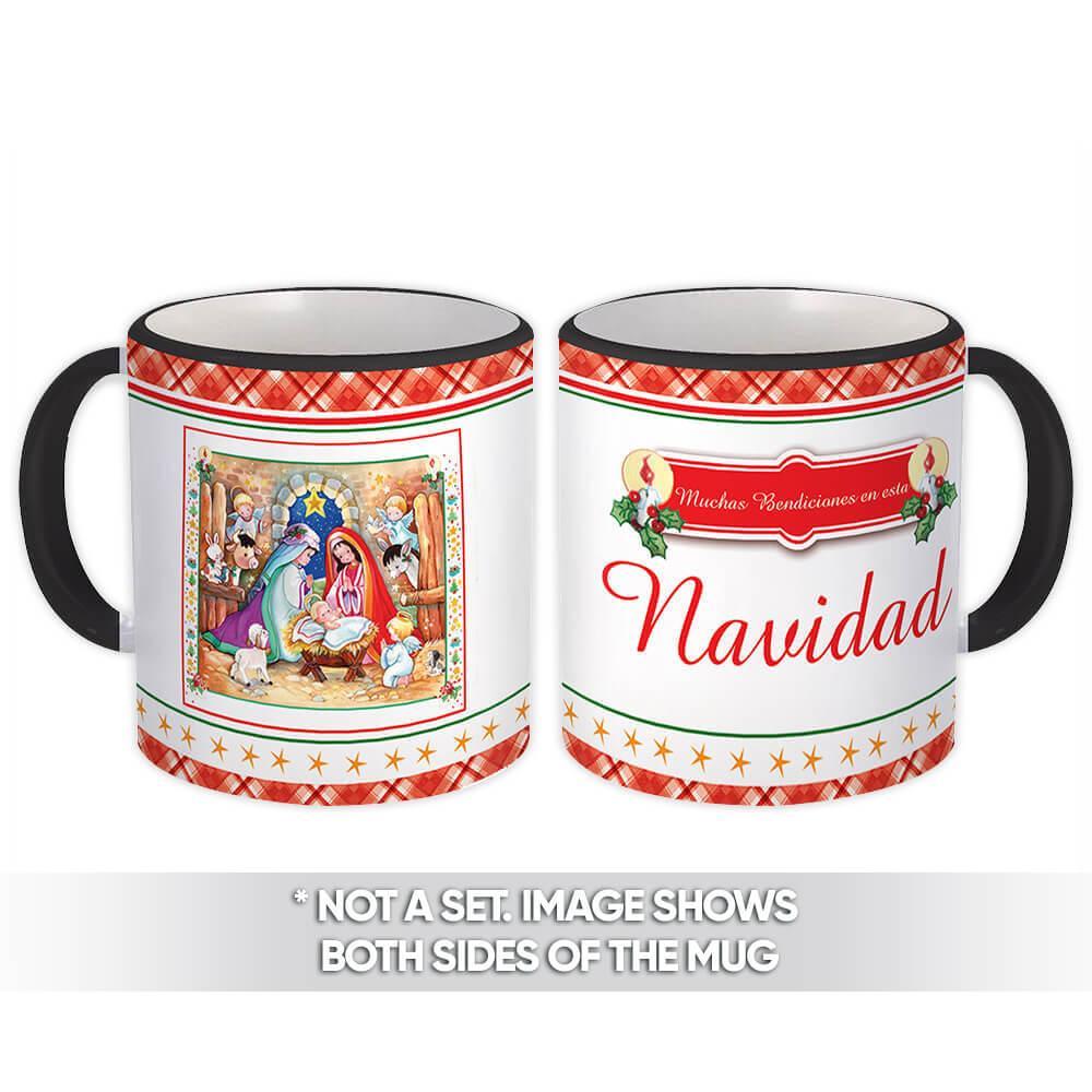 Bendiciones en esta Navidad : Gift Mug Sagrada Familia
