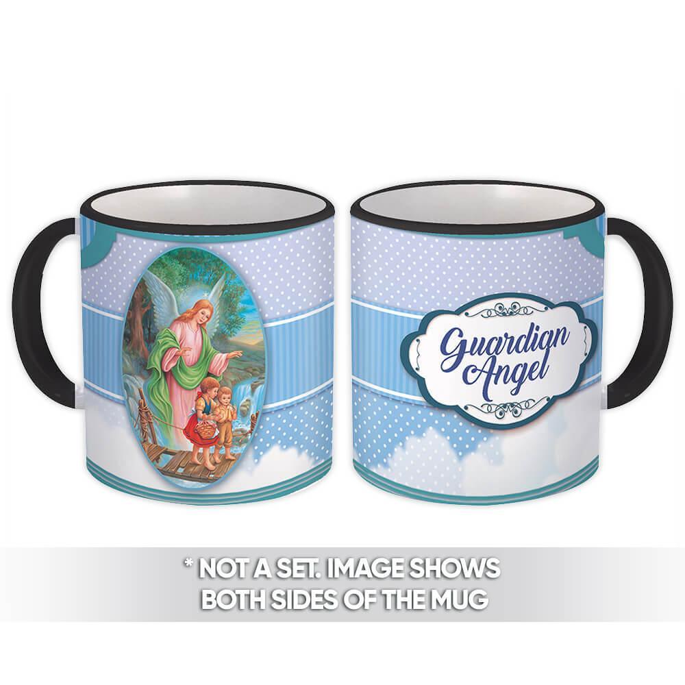 Guardian Angel : Gift Mug Catholic Religious Saint Protector