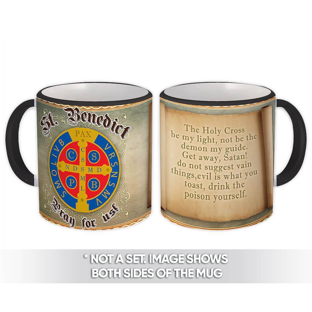 Saint Benedict Medal : Gift Mug Catholic Religious Prayer