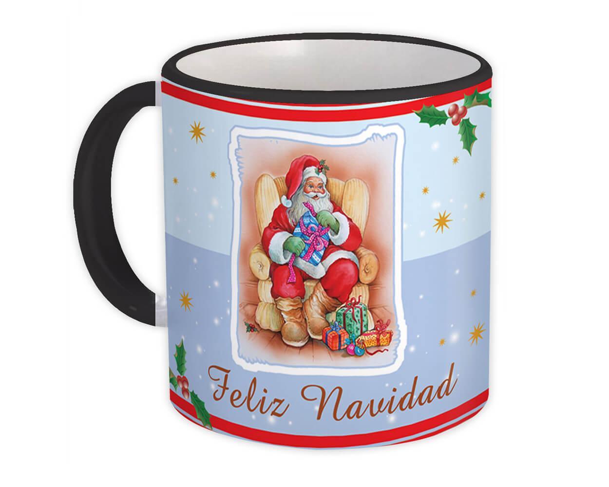Santa Klaus Feliz Navidad : Gift Mug Navidad Christmas