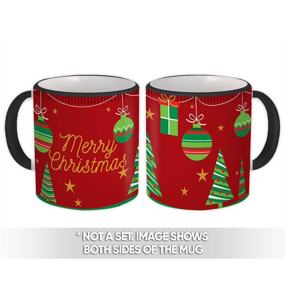 Balls and Merry Christmas : Gift Mug Holidays Seasons Greetings