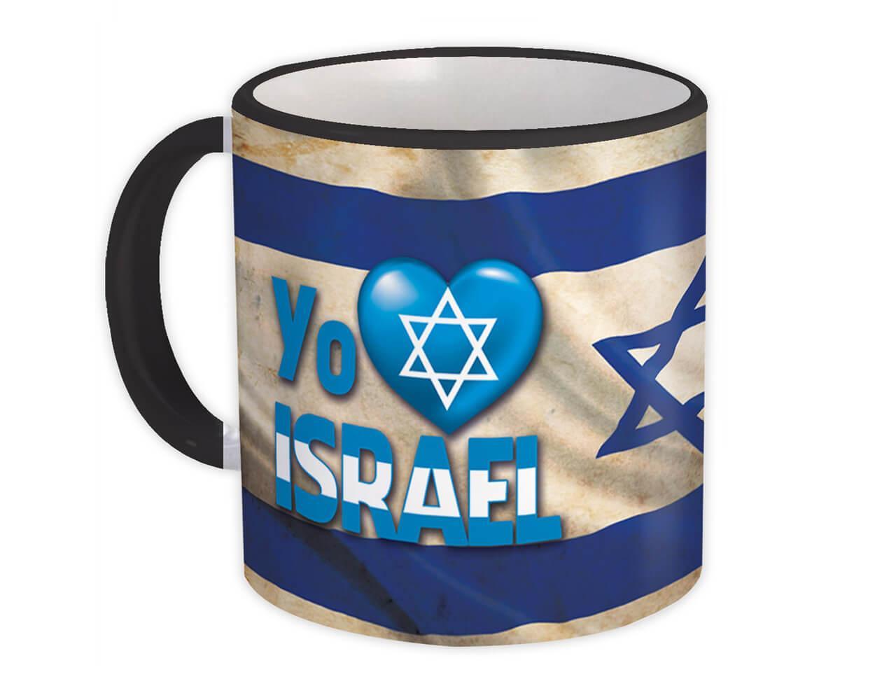 Yo Amo Israel Corazon Estrella David : Gift Mug Spanish Espanol Christian Cristiana
