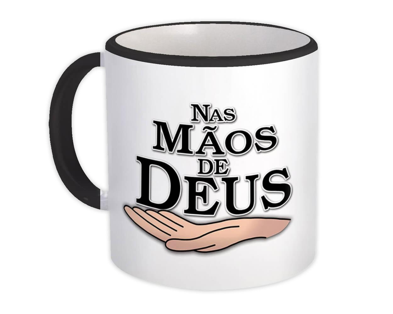 Nas Maos de Deus : Gift Mug Christian Portuguese Evangelical