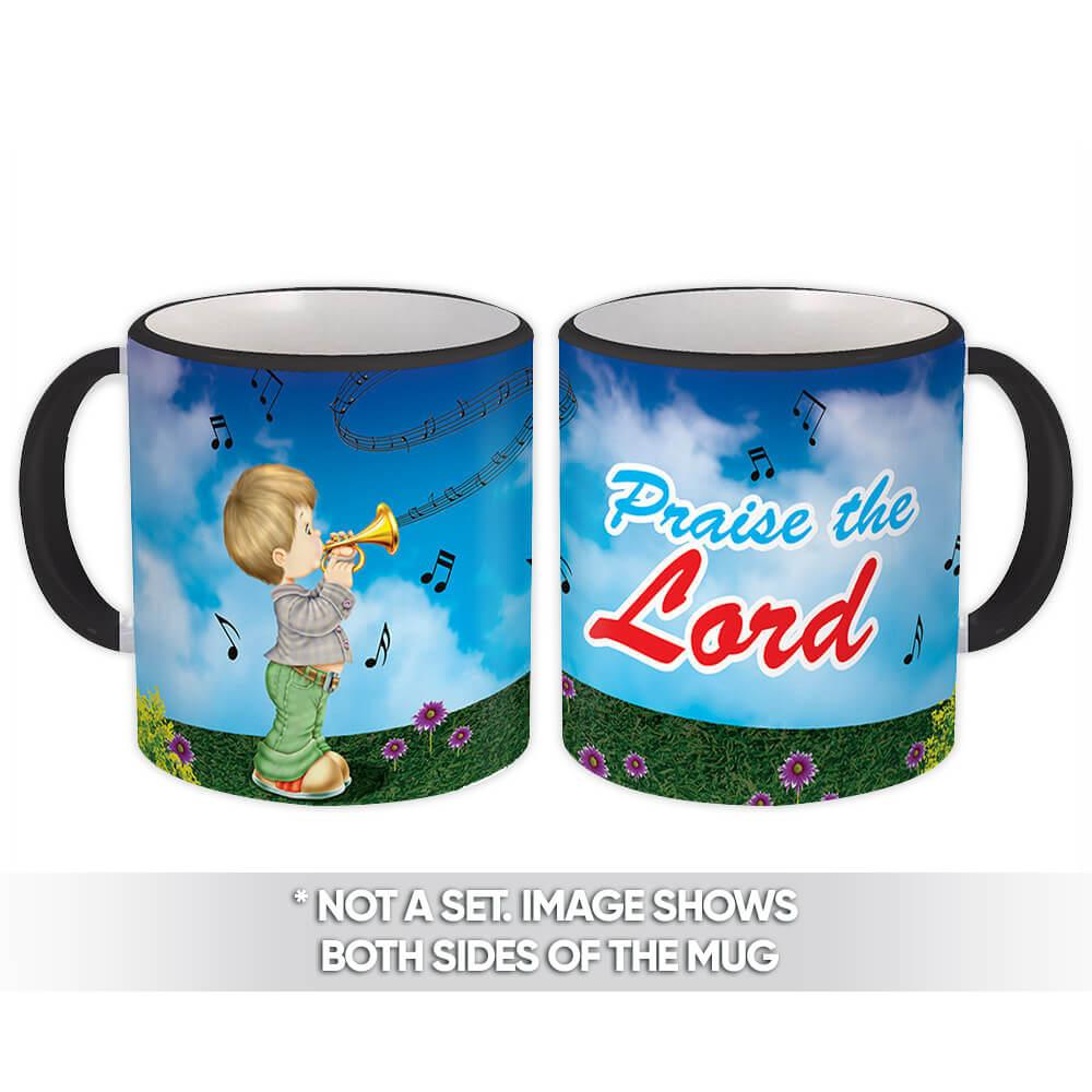 Boy Praise The Lord : Gift Mug Christian Religious Jesus God