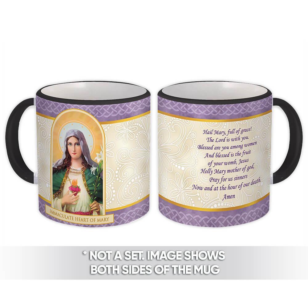 Immaculate Heart of Mary : Gift Mug Catholic Religious Virgin Saint Mother of God