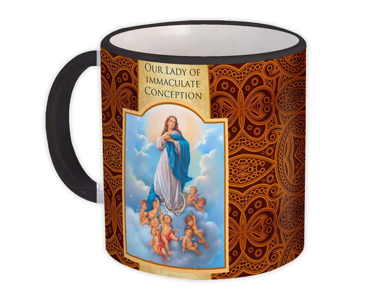 Our Lady of Immaculate Conception : Gift Mug Catholic Virgin Saint Mary