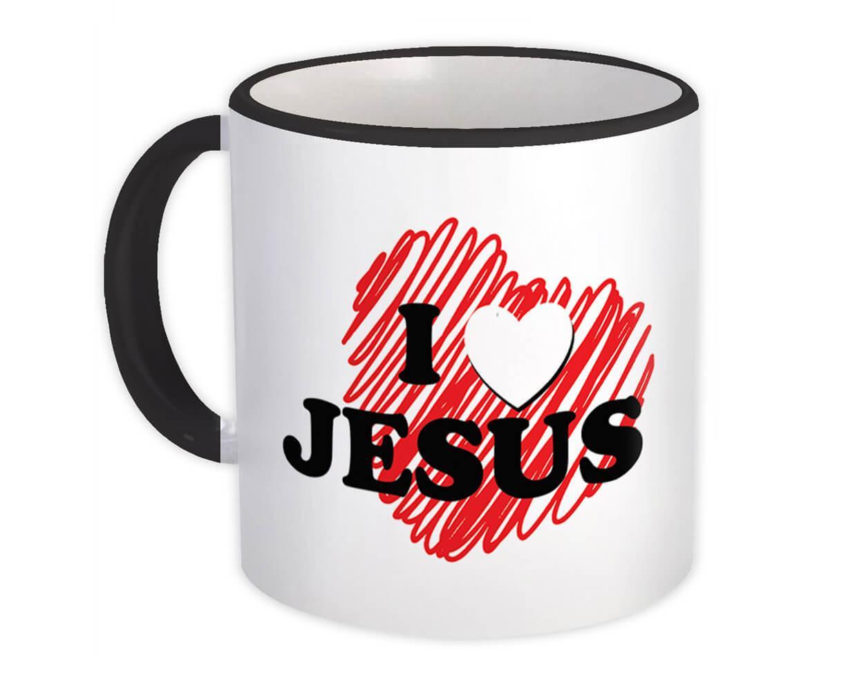 I Love Jesus : Gift Mug Christian Religious Catholic God Faith