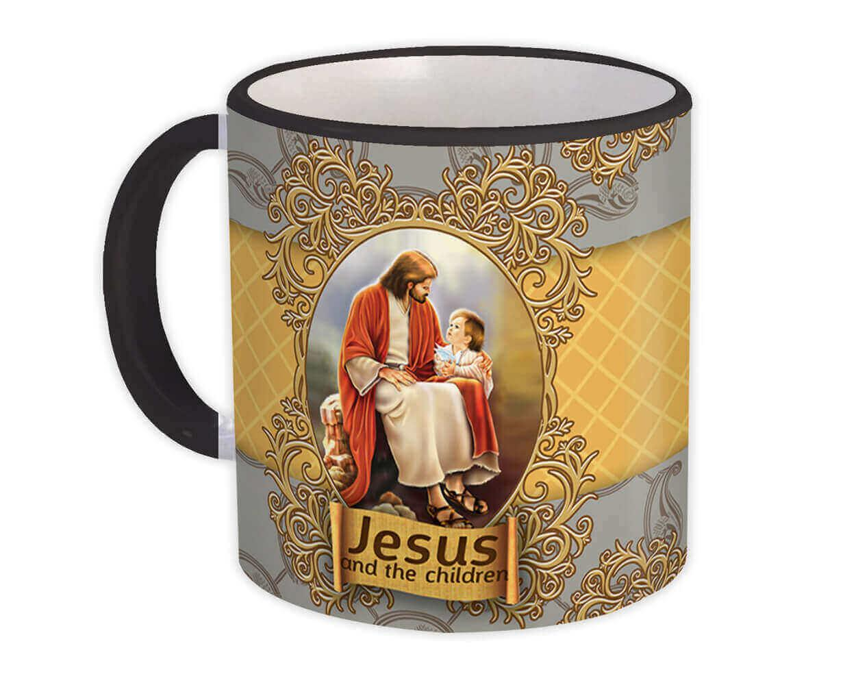 Jesus and the Children : Gift Mug Catholic Religious Religion Classic Faith