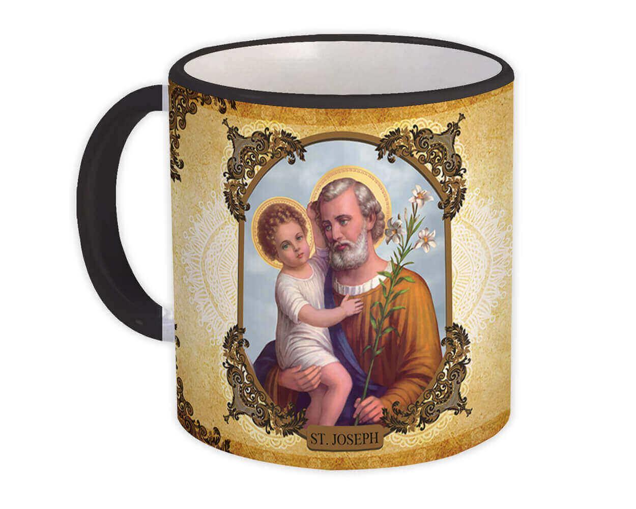 Saint Joseph : Gift Mug Catholic Religious Holy Family