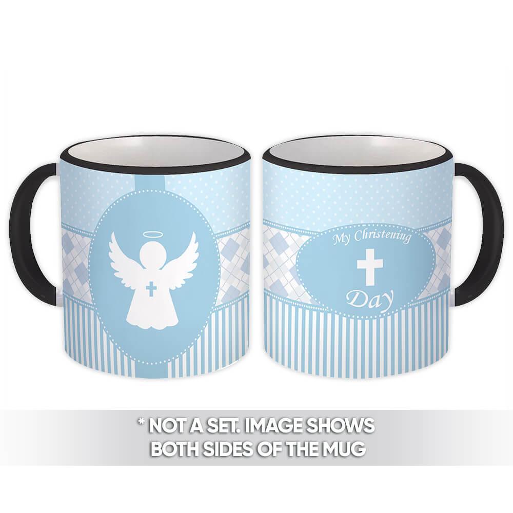 My Christening Day : Gift Mug Catholic Religious Baptism Giveaway Personalize