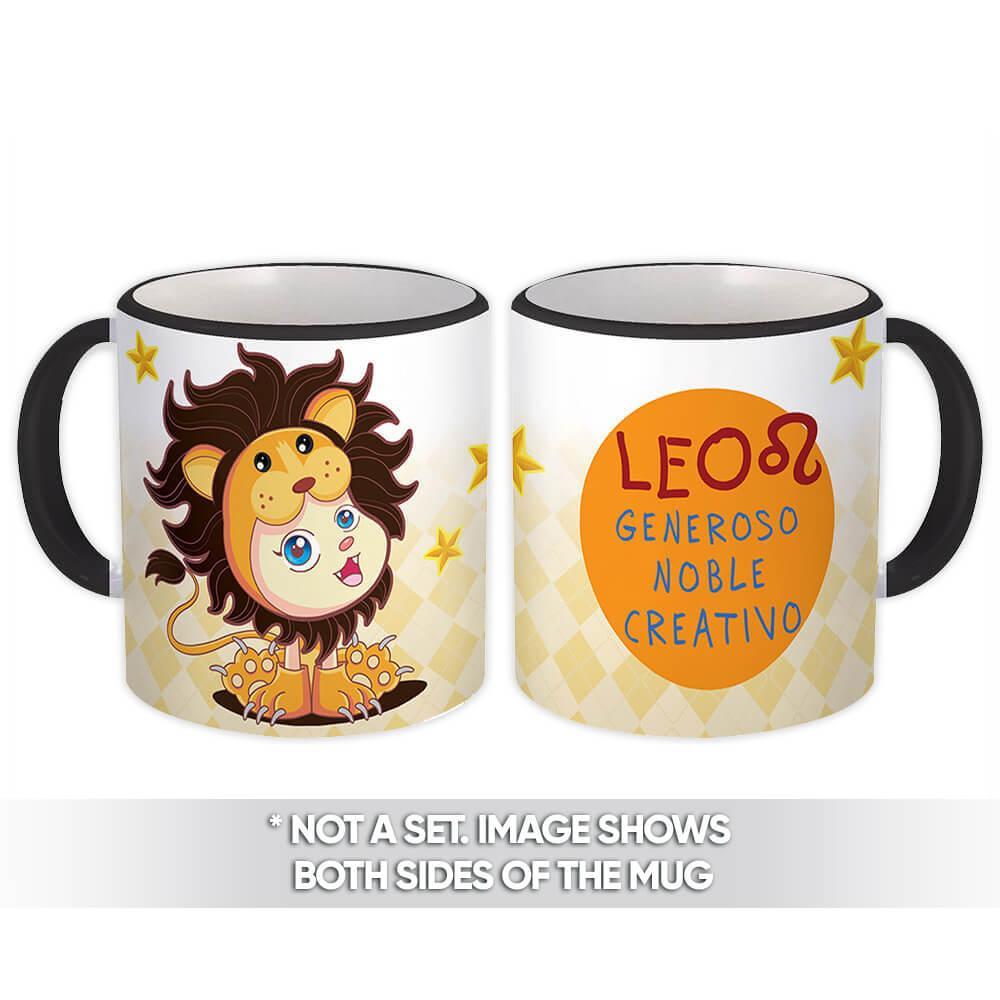 Leo : Gift Mug Signo Zodiaco Esoterico Horóscopo Astrologia