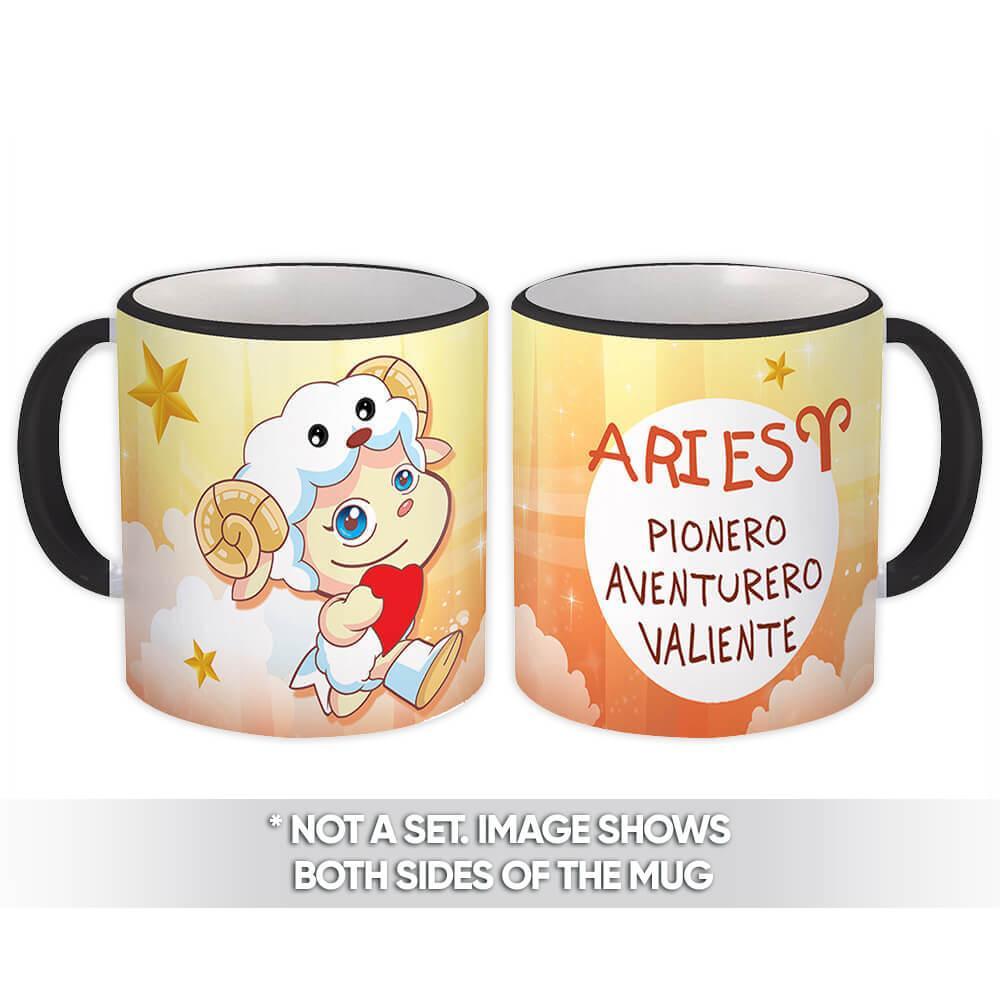 Aries : Gift Mug Zodiaco Signo Esoterico Horóscopo Astrologia