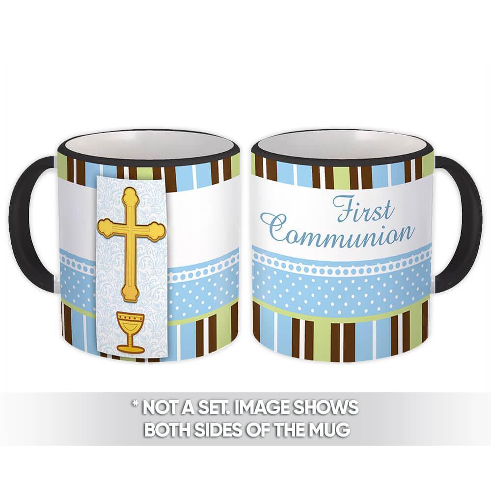 First Communion : Gift Mug Catholic Religious Holy Communion